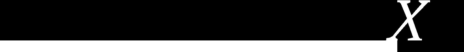 L'Expert Carrossier - Icône X du logo en blanc avec ligne